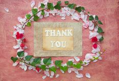 The words THANK YOU Royalty Free Stock Photo