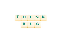 Words think big Royalty Free Stock Photos
