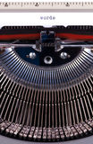Words on typewriter. Words written on an old typewriter Royalty Free Stock Image