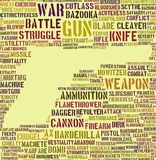 Words of war Stock Photos