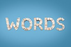 WORDS word arranged from books Royalty Free Stock Photo