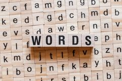 Words word concept royalty free stock images