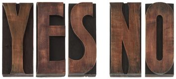 Words Yes No Cutout Royalty Free Stock Photo