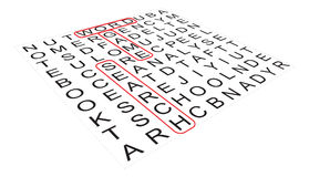 Wordsearch game Stock Image