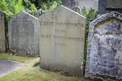 Wordsworth grave in Grasmere, UK Royalty Free Stock Images