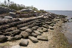Wordt de re-gelegd defensie van de kust Royalty-vrije Stock Afbeeldingen