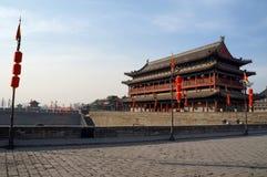 Oude de stadsmuur van China van Xian royalty-vrije stock foto's