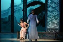 Wordt ontdekt de zaak-tweede handeling van de gebeurtenissen van dans drama-Shawan van het verleden Stock Foto