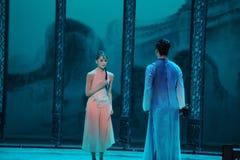 Wordt ontdekt de zaak-tweede handeling van de gebeurtenissen van dans drama-Shawan van het verleden Royalty-vrije Stock Afbeeldingen