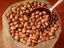 Worek arachidy fotografia stock
