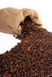 Worek z kawowymi fasolami Obraz Stock