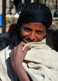 Woreta, Amhara, Etiopia, Grudzień 8th 2007: Etiopska kobieta obraz stock