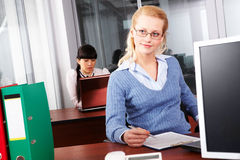 During work Royalty Free Stock Photo