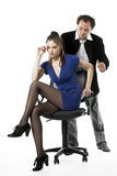 At work. Sexual harassment at work in office Royalty Free Stock Image