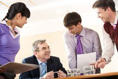 At work Royalty Free Stock Images