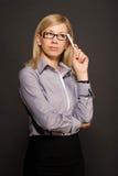 Work. Woman at work, thinking, idea Royalty Free Stock Photo