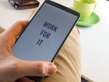 Work for it Stock Images