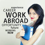 Work Abroad. Working abroad opportunity concept background royalty free stock photography