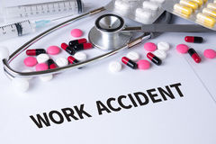 WORK ACCIDENT Royalty Free Stock Image