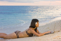 Work Anywhere In Paradise Royalty Free Stock Photography