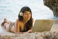 Work anywhere in paradise Royalty Free Stock Images