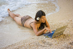 Work anywhere in paradise Royalty Free Stock Image