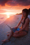 Work anywhere in paradise Royalty Free Stock Photo