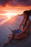 Work anywhere in paradise Stock Photos