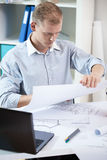 Work in the architectural office Stock Image