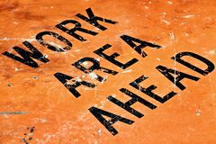 Work area ahead Royalty Free Stock Photography