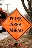Work area sign 02 Stock Photos