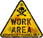Work area sign Stock Photography