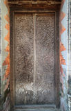 Work of art carving door in hindu tample Royalty Free Stock Photo