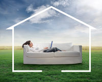 Free Work At Home Stock Photography - 13683712