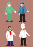 Work Attire for Professionals Vector Illustration Stock Photos