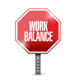Work balance stop sign illustration design Stock Photography