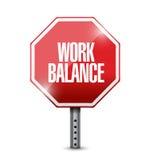 Work balance stop sign illustration design Stock Photography