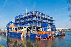 Work barge Stock Photo