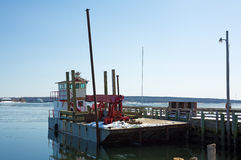 Work Barge In Winter Royalty Free Stock Photography
