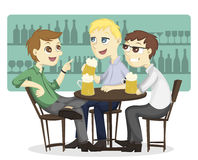 The after work beer time Royalty Free Stock Image