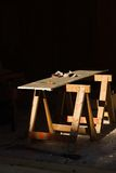 Work Bench, Sawhorses Royalty Free Stock Photography