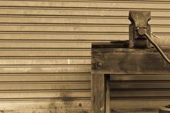 Work-bench at warehouse Royalty Free Stock Image
