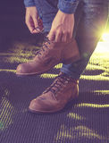 Work boot Royalty Free Stock Photography