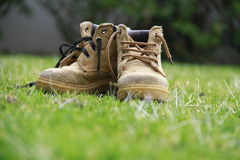 Work boots Royalty Free Stock Photos