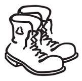 Work Boots. Mens Work Boots untied illustration stock illustration