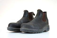Work Boots. A close up shot of work boots Royalty Free Stock Photos