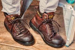 Work Boots, Footwear, Protection Stock Photo
