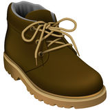 Work Boots. Layered vector illustration of Work Boots Royalty Free Stock Photos