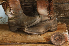 Work Boots Stock Photography