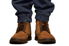 Work boots for people. Lifestyle Royalty Free Stock Photo